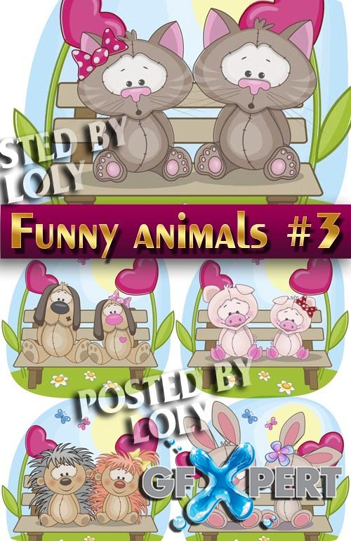Funny Animals #3 - Stock Vector