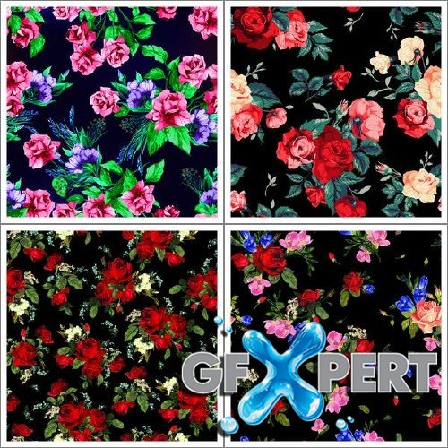 Vintage roses seamless pattern vector