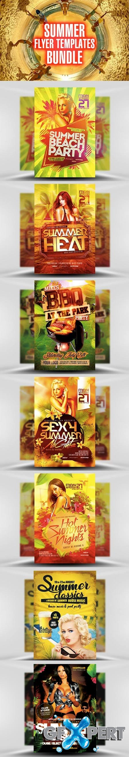 FlyerHeroes Summer Flyer Templates Bundle