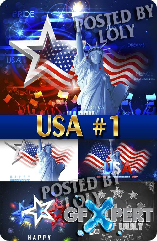 USA. Independence Day #1 - Stock Vector