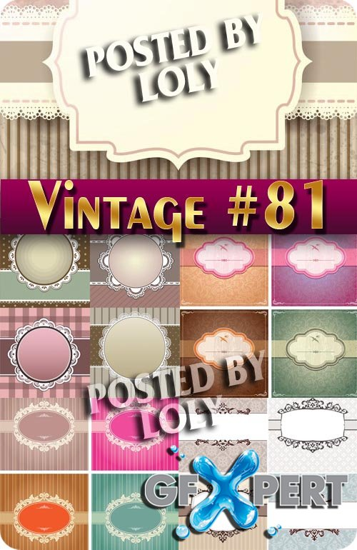 Vintage backgrounds #81 - Stock Vector
