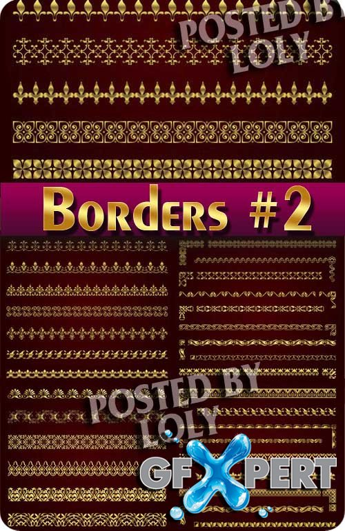 Vintage elements and borders #2 - Stock Vector
