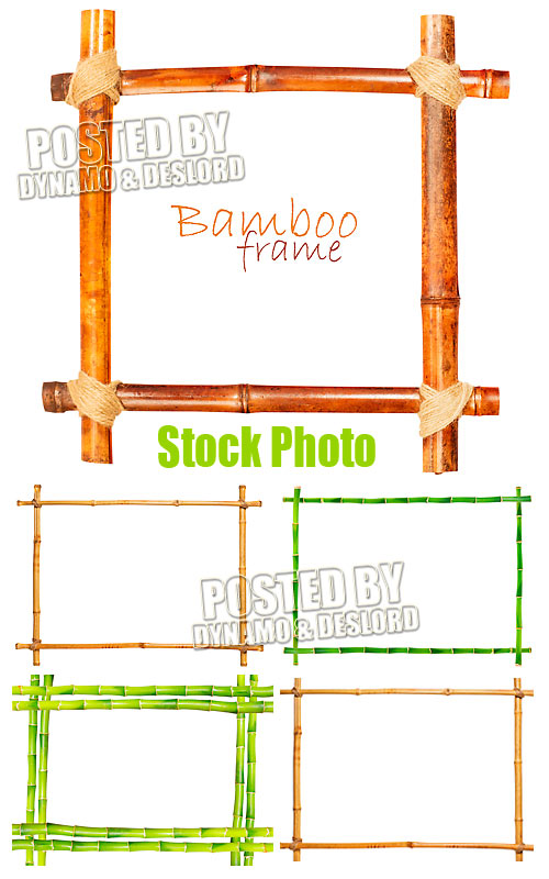 Bamboo frame - UHQ Stock Photo