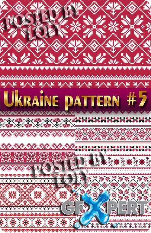 Ukrainian embroidery. Patterns #5 - Stock Vector