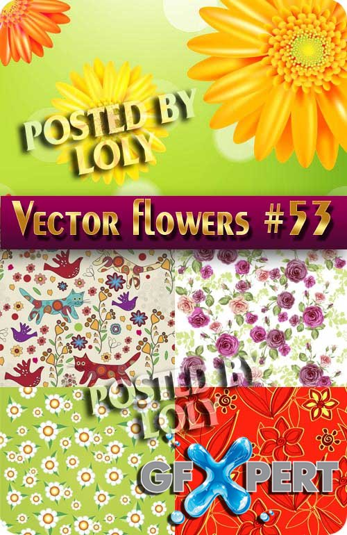 Vector Flowers #53 - Stock Vector