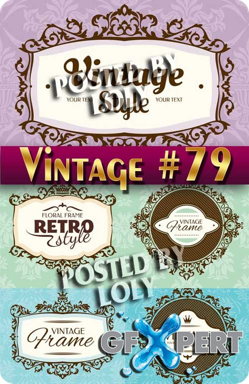 Vintage backgrounds #79 - Stock Vector