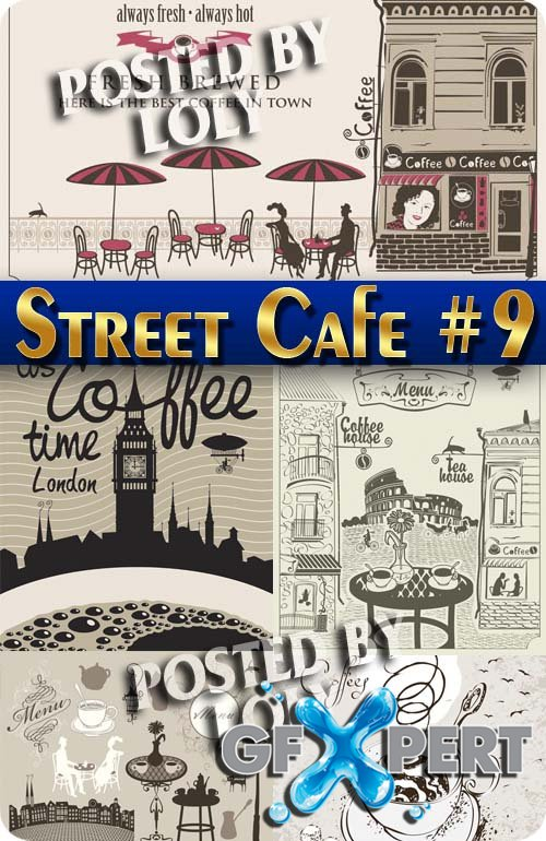 Street Cafe #9 - Stock Vector