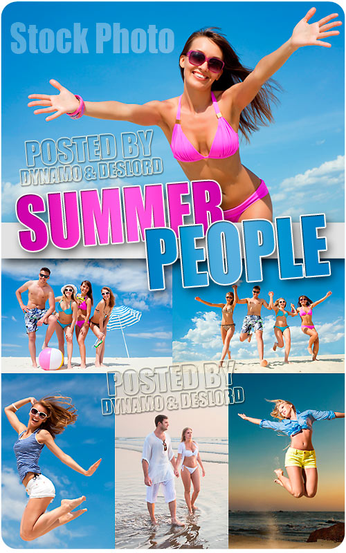 Summer People 2 - UHQ Stock Photo
