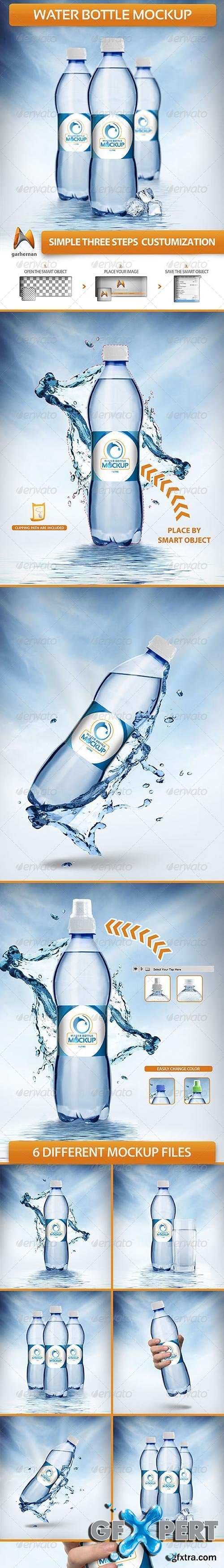 GraphicRiver - Water Bottle Mockup
