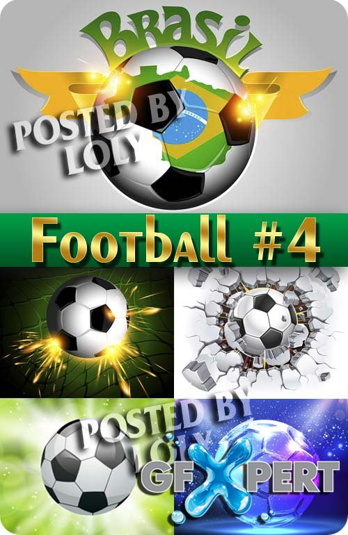 Sports. Football #4 - Stock Vector