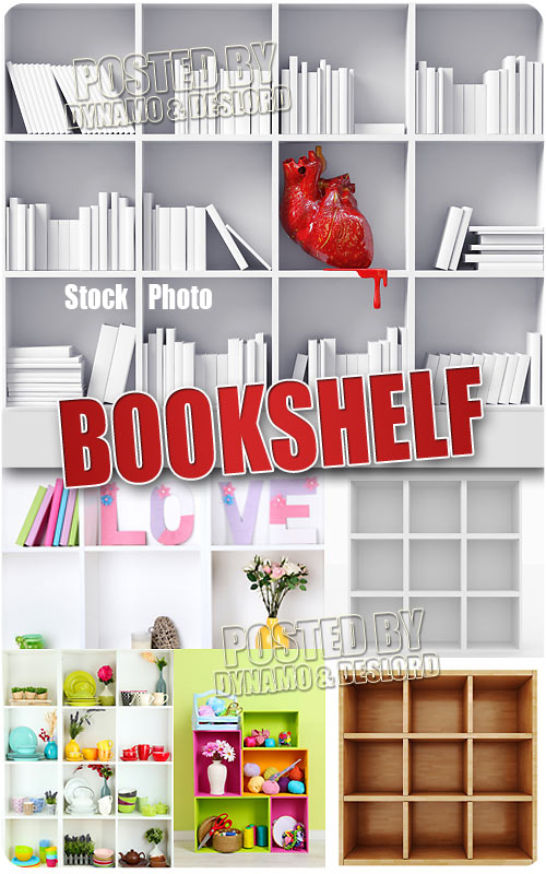 Bookshelf - UHQ Stock Photo