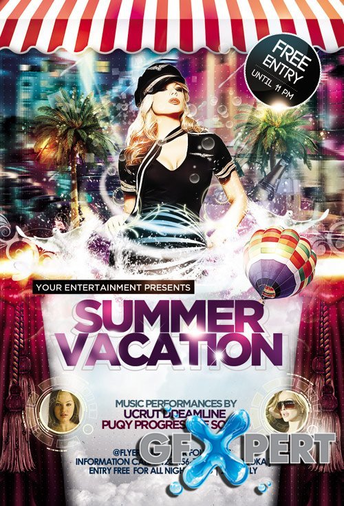 Summer Vacation Flyer Template