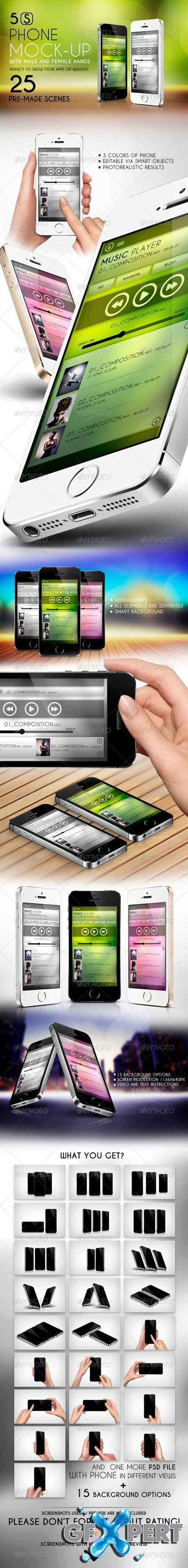 GraphicRiver 5S Phone Mock-up 6472299