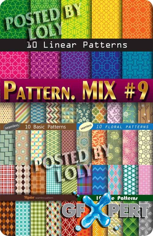 Mix Patterns #9 - Stock Vector