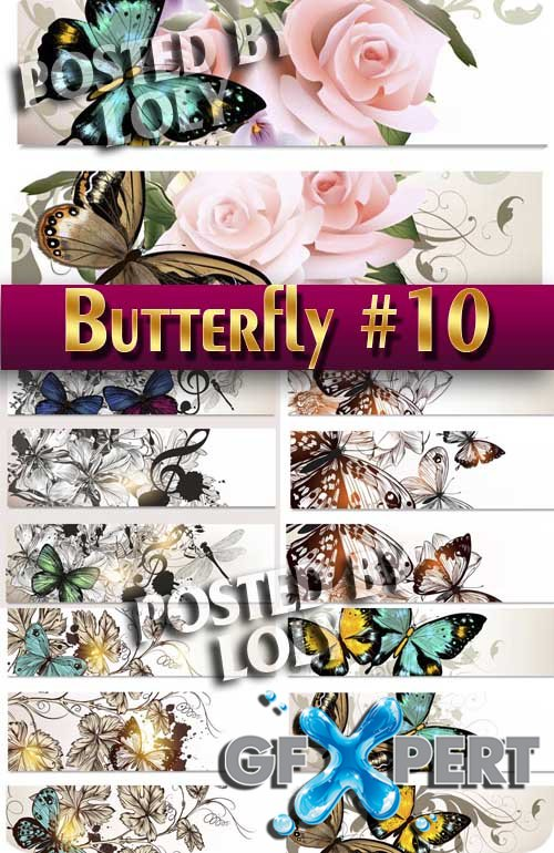 Beautiful butterfly #10 - Stock Vector
