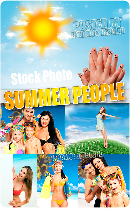 Summer People 3 - UHQ Stock Photo