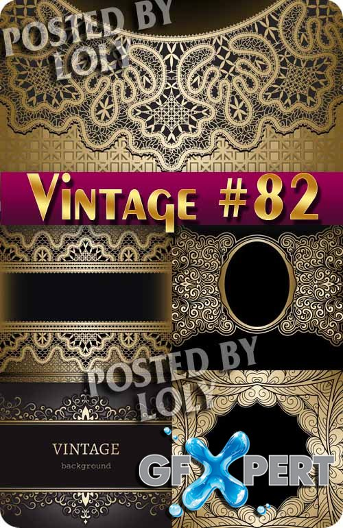 Vintage backgrounds #82 - Stock Vector