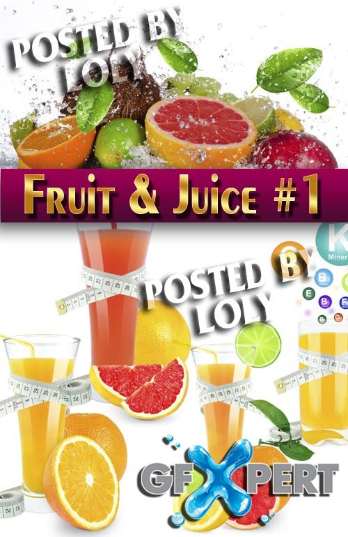 Fruit and juice#1 - Stock Photo