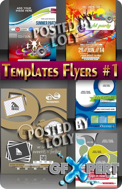 Flyer templates #1 - Stock Vector