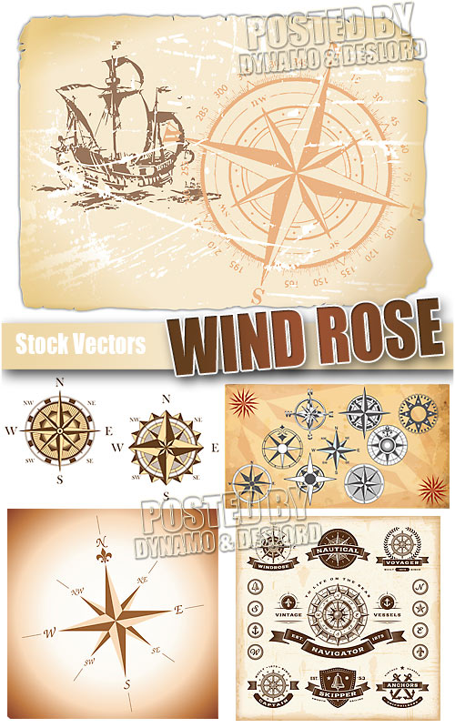 Wind rose - Stock Vectors