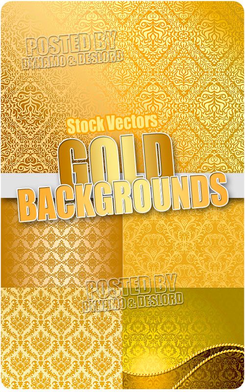 Gold backgrounds - Stock Vectors