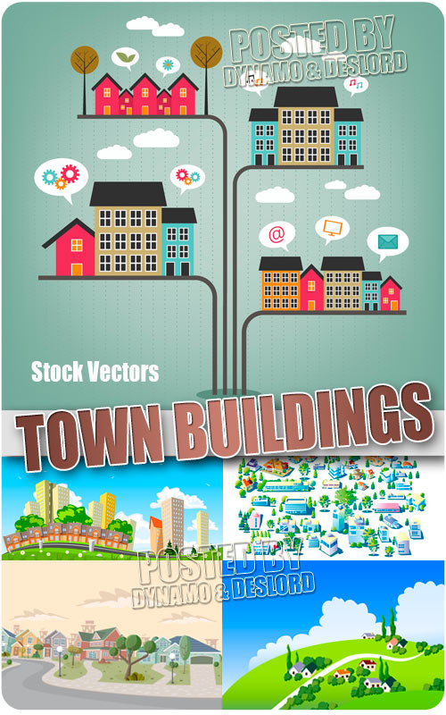 Town buildings - Stock Vectors