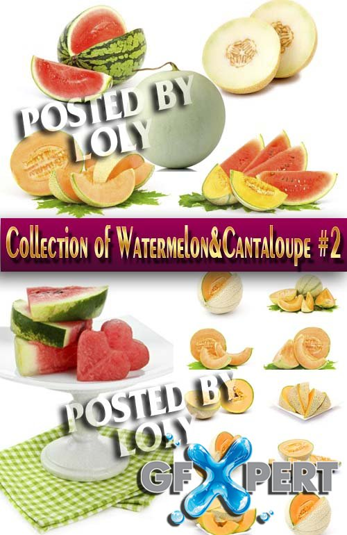 Food. Mega Collection. Watermelon and melon #2 - Stock Photo