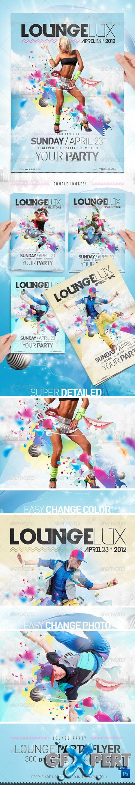 Lounge Party Flyer Template 1302898