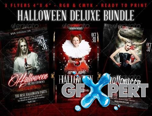 GraphicRiver Halloween Deluxe Bundle (4x6 Flyer Template)