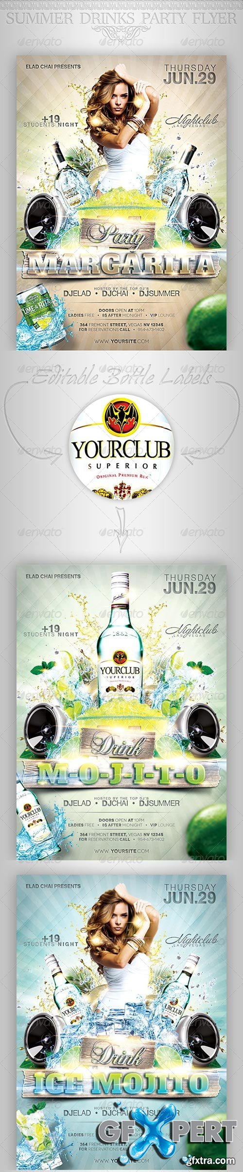GraphicRiver - Summer Drinks Event Party Flyer