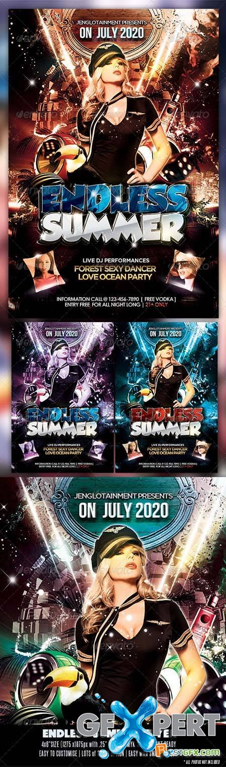 GraphicRiver Endless Summer Flyer Template