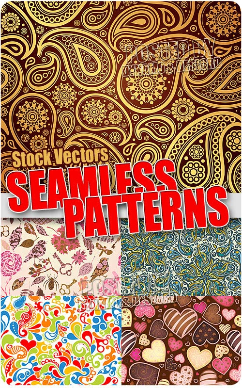 Seamless pattrens - Stock Vectors