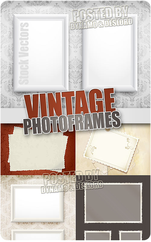 Vintage photo frames - Stock Vectors