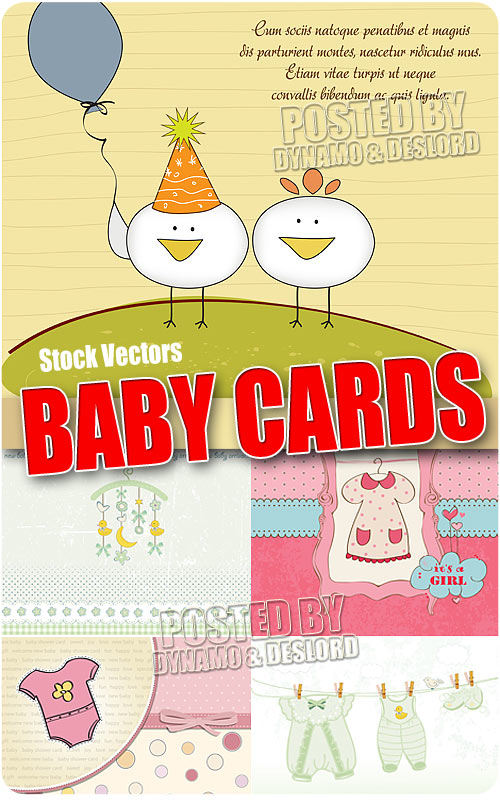 Baby cards - Stock Vectors