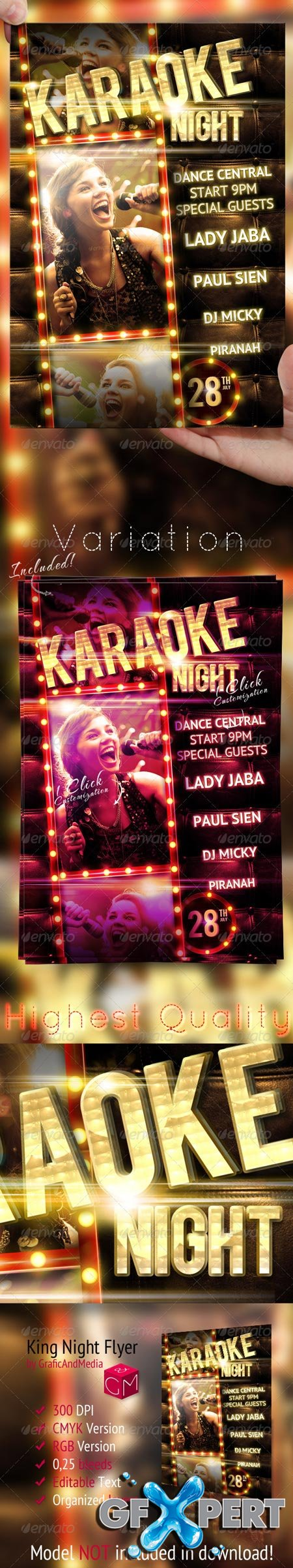 GraphicRiver Karaoke Night Party Flyer Template 2592676