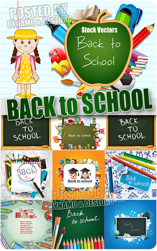 Back to school - Stock Vectors