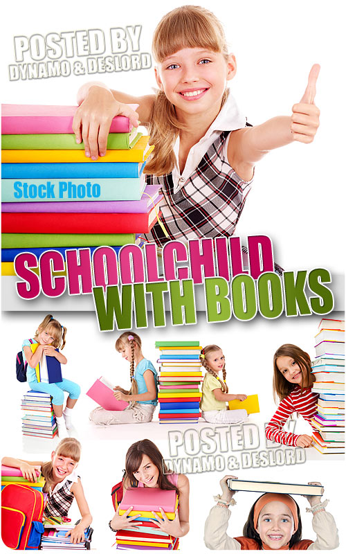 Schoolchild with books - UHQ Stock Photo