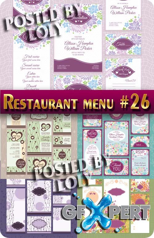 Restaurant menus #26 - Stock Vector