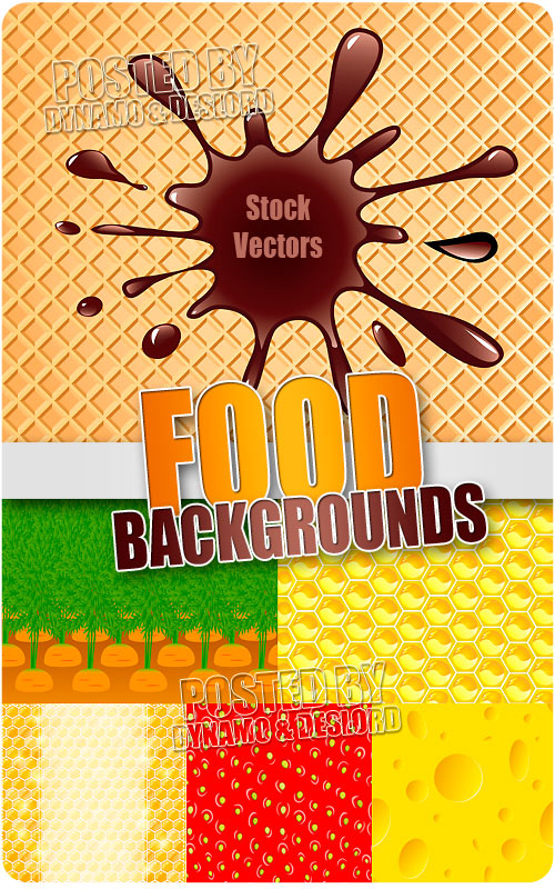 Food backgrounds - Stock Vectors