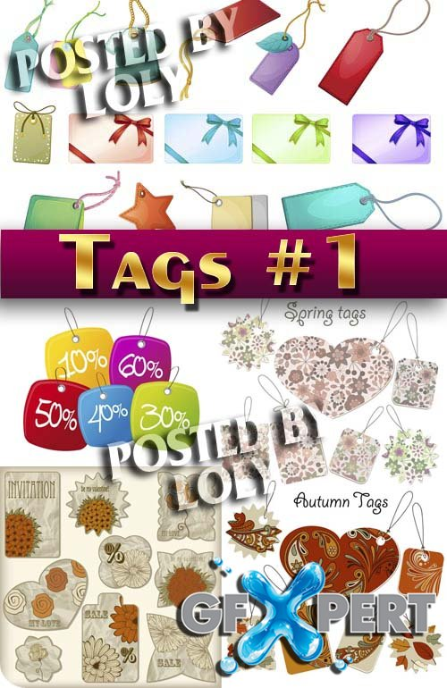 Tags and stickers #1 - Stock Vector
