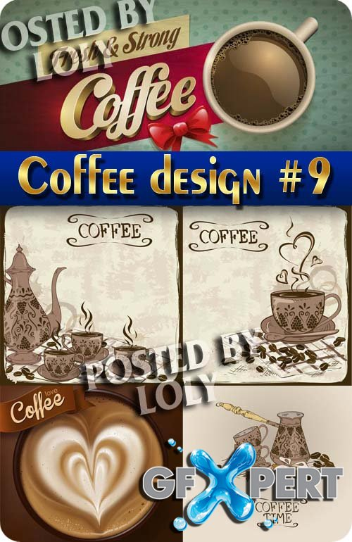 Coffee Designs #9 - Stock Vector
