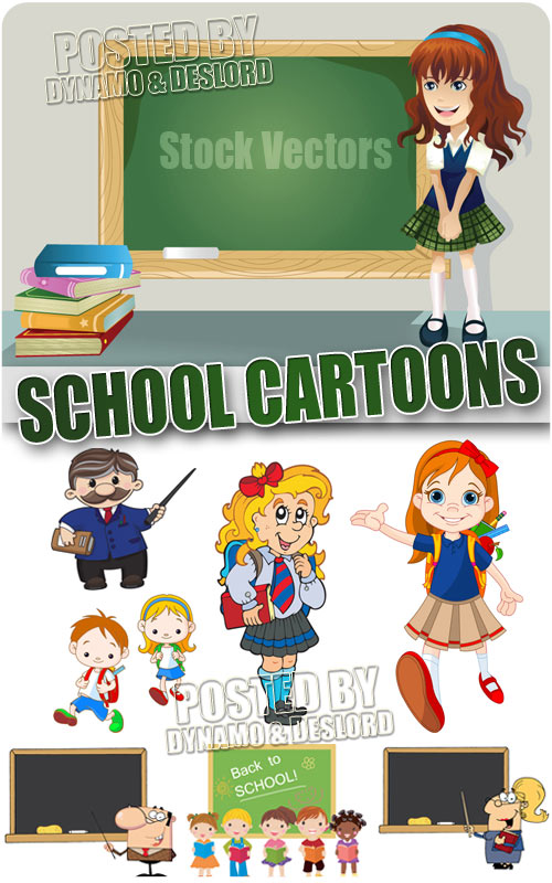 School cartoons 2 - Stock Vectors