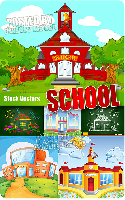 School house - Stock Vectors