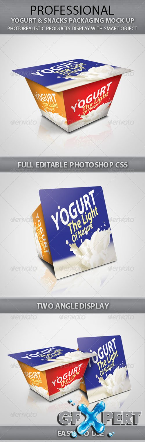 Yogurt & Snacks Packaging Mock