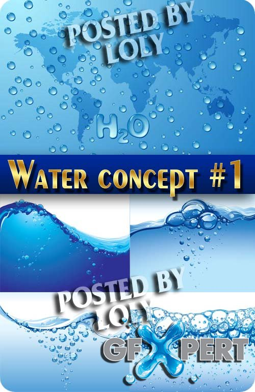 Water. Concept #1 - Stock Vector