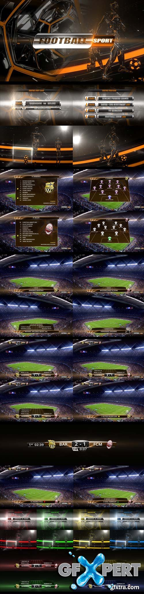 VideoHive - Football Opener, Logo & On-Air Complete Package 6914572