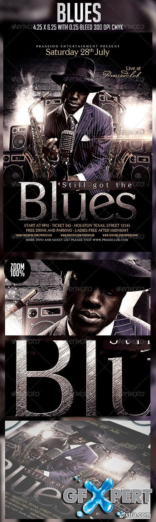 GraphicRiver - Blues Flyer Template