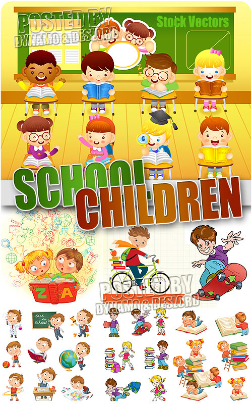 School children #2 - Stock Vectors