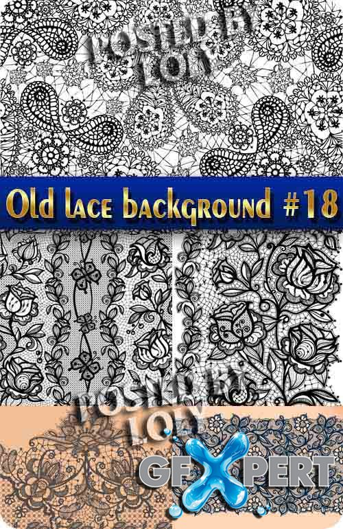 Vintage lace background #18 - Stock Vector