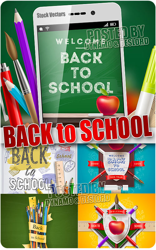 Back to school 3 - Stock Vectors